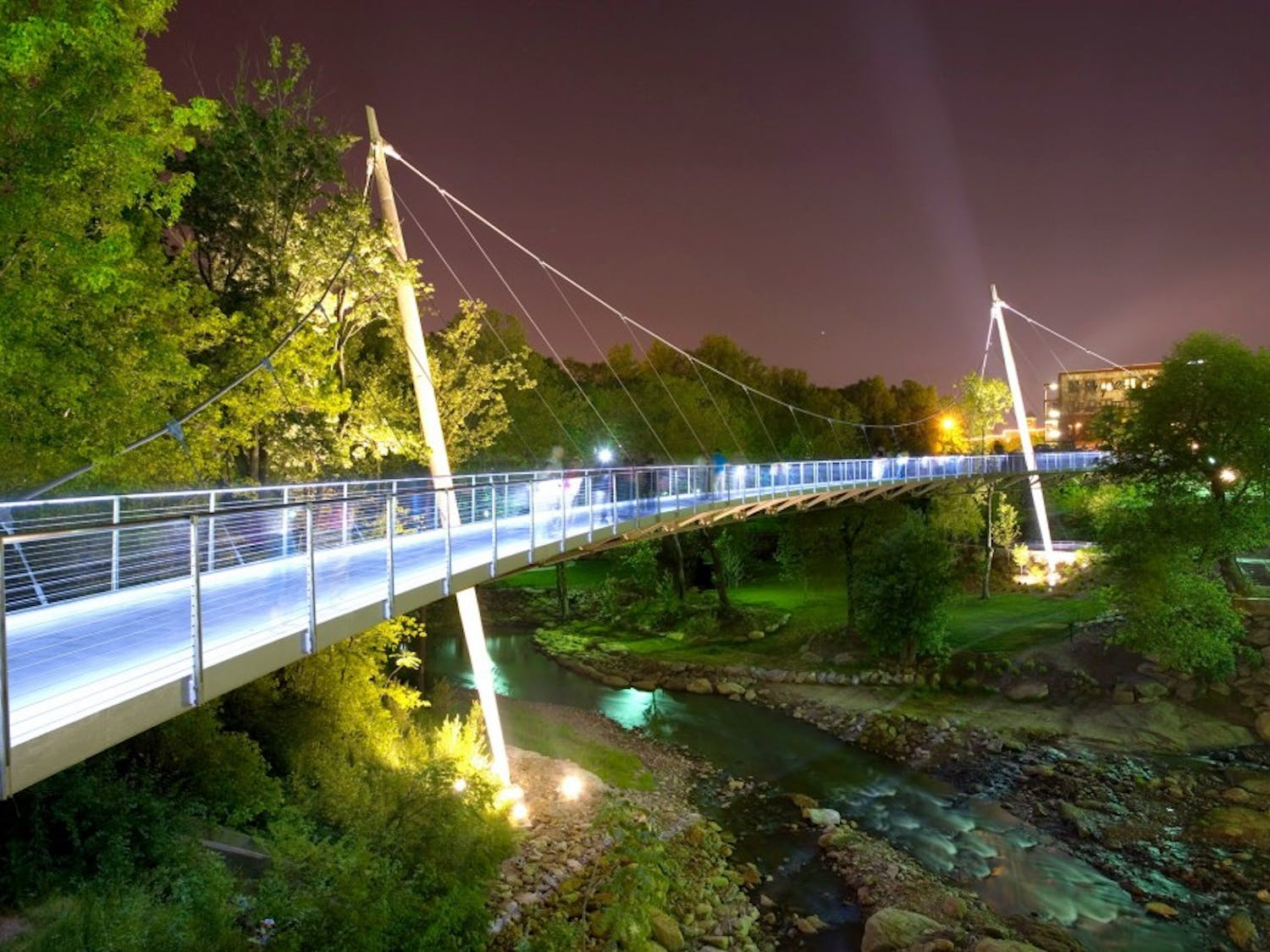 Only a two hour drive from Columbia, Greenville, SC offers tasty ethnic cuisines and a beautiful view.