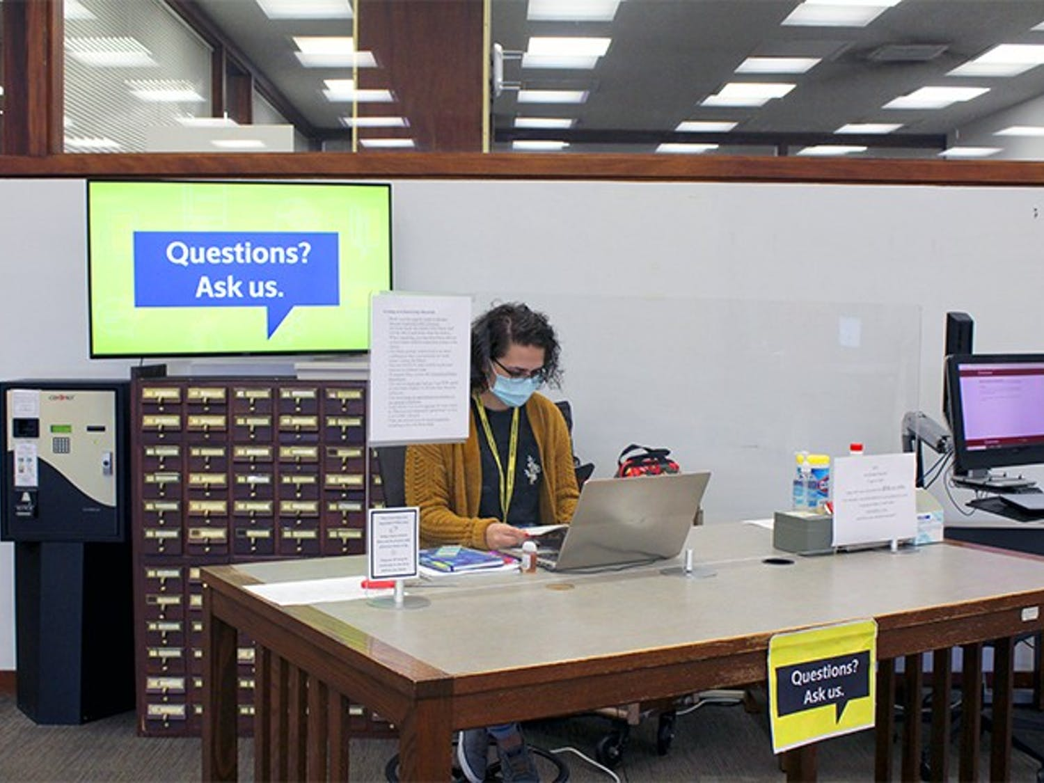 Fourth-year chemical engineering major Mary Wilson works as a library ambassador in the Thomas Cooper Library. A large portion of college students are not eligible to receive the next round of stimulus checks.