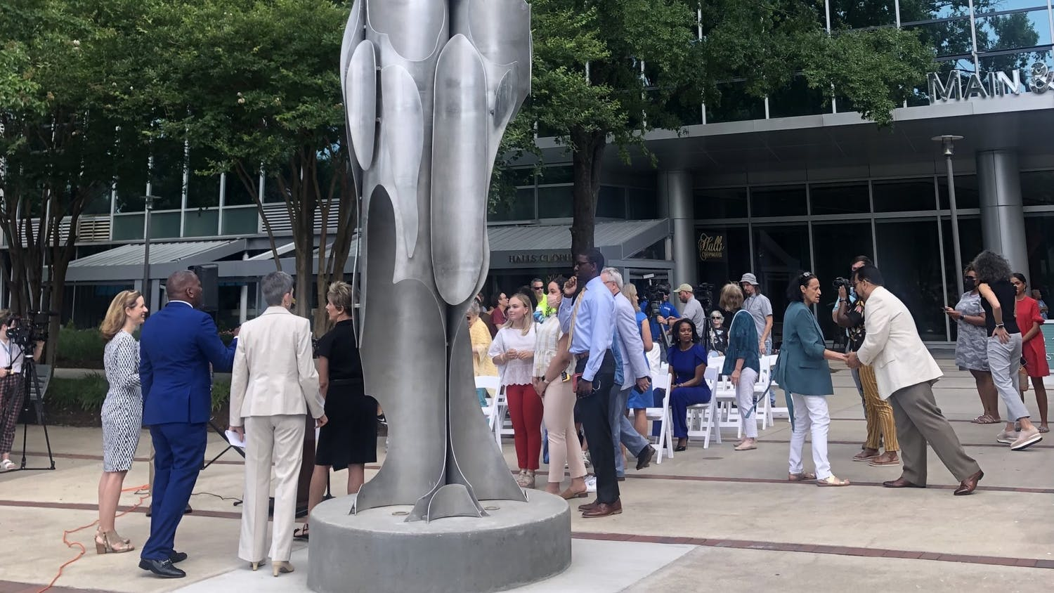 DeeDee Morrison designed the Architecture of Strength monument, which stands across from the Statehouse and was dedicated on June 16. The Columbia City of Women created this piece to combat an absence of female monuments in Columbia, according to its website.