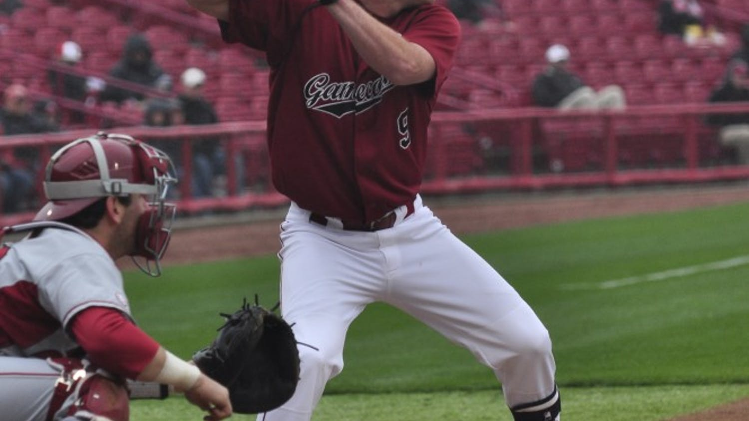 Sophomore shortstop Joey Pankake had two hits in Sunday afternoon's 11-inning 5-3 loss to Arkansas.