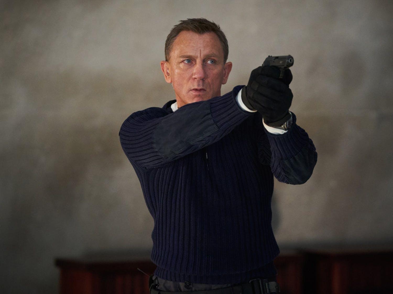 "Daniel Craig as James Bond in ""No Time to Die."""
