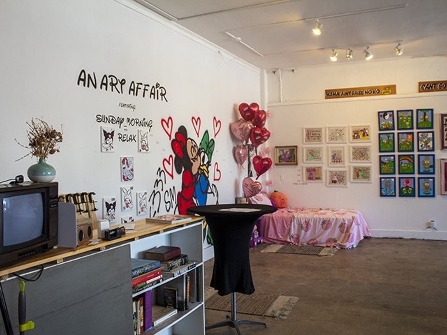 The main showroom of Tapp's Outpost shows the work of the many artists who work in the space. Tapp's Outpost is located at 713 Saluda Ave. in Five Points.