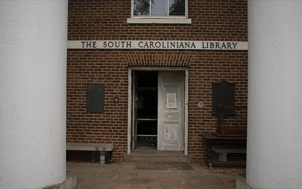 <p>The South Caroliniana Library located on the Horseshoe is currently undergoing construction. The library is often used as a place for research.</p>
