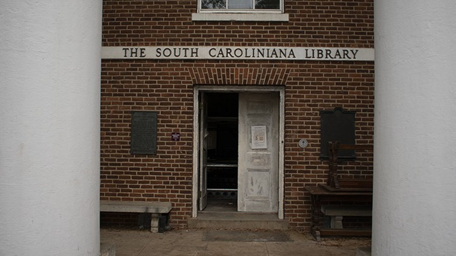 The South Caroliniana Library located on the Horseshoe is currently undergoing construction. The library is often used as a place for research.