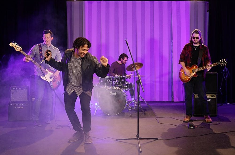 """<p>A still from the band Opus &amp; The Frequencies' upcoming music video """"F.A.M."""" The music video will be on the band's website and social media.</p>"""