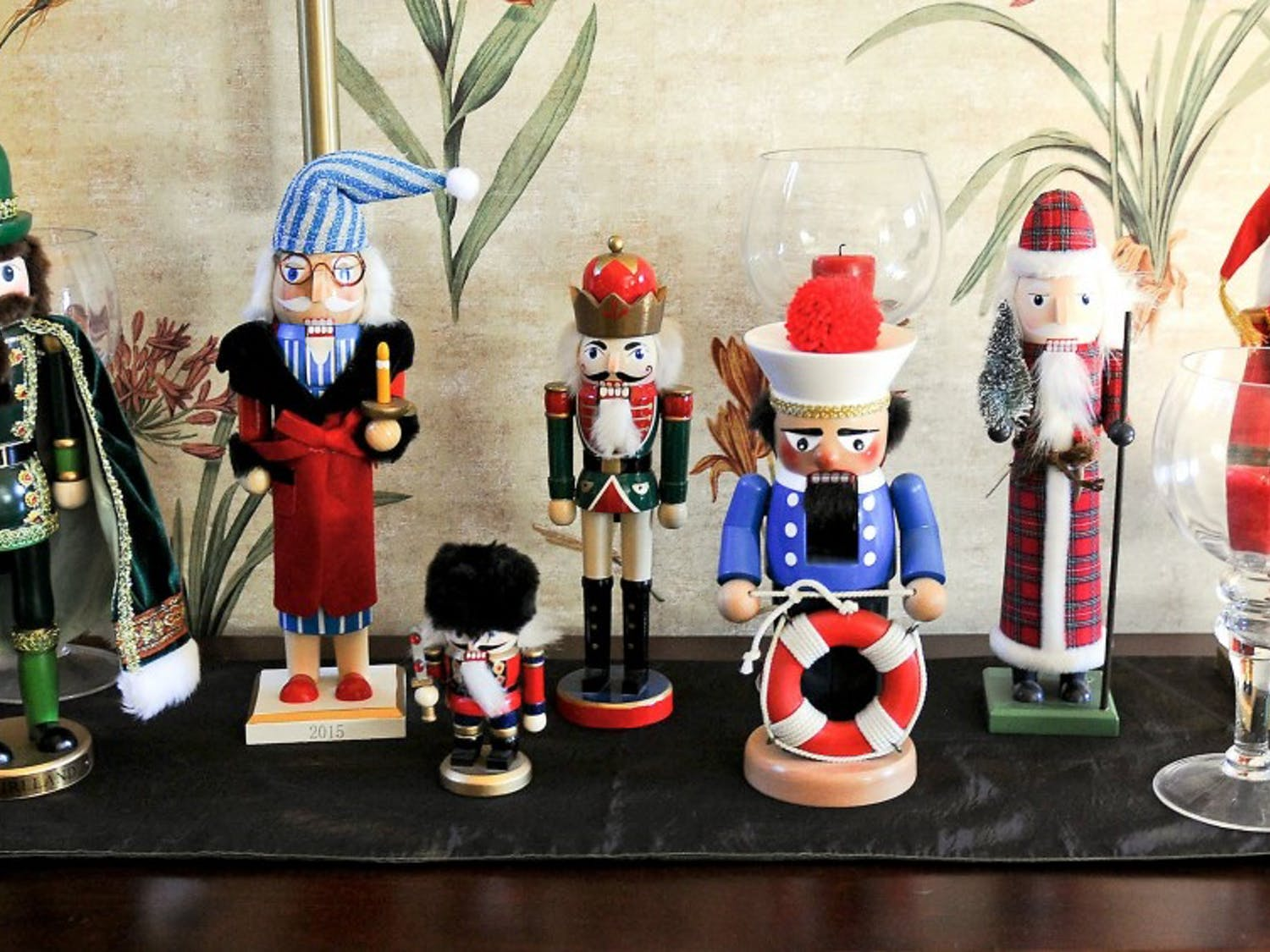 A nutcracker collection on a table in the entry. (Pam Panchak/Pittsburgh Post-Gazette/TNS)