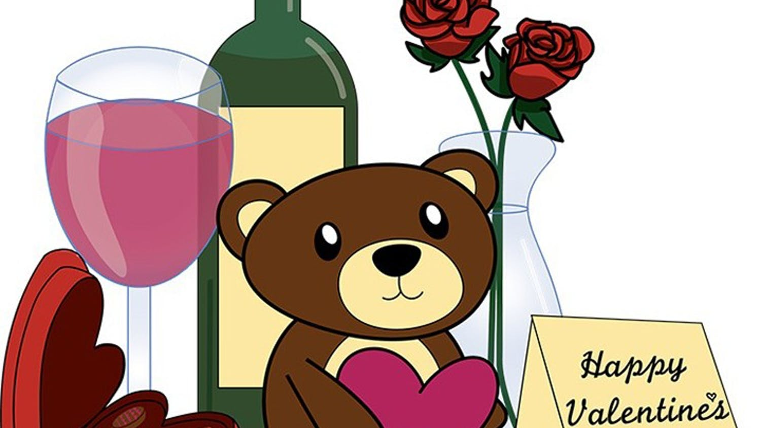 Traditional Valentines day items include stuffed animals, wine, chocolates and flowers. These materialistic items have become a staple of the holiday.