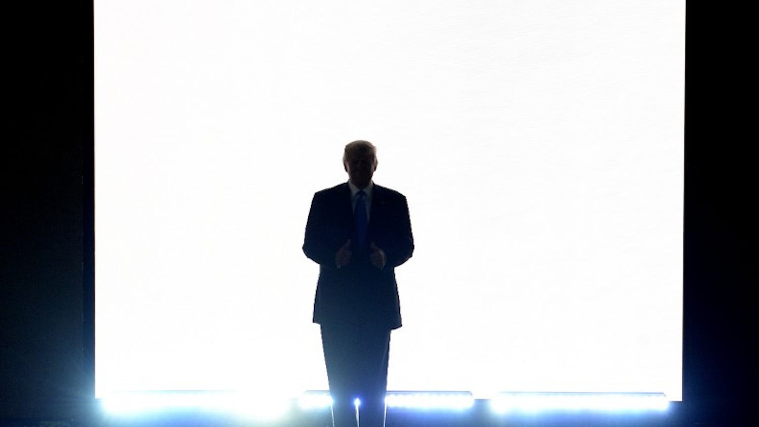 Republican candidate Donald Trump introduces his wife Melania Trump on the first day of the Republican National Convention in Cleveland on Monday, July 18, 2016. (Olivier Douliery/Abaca Press/TNS)