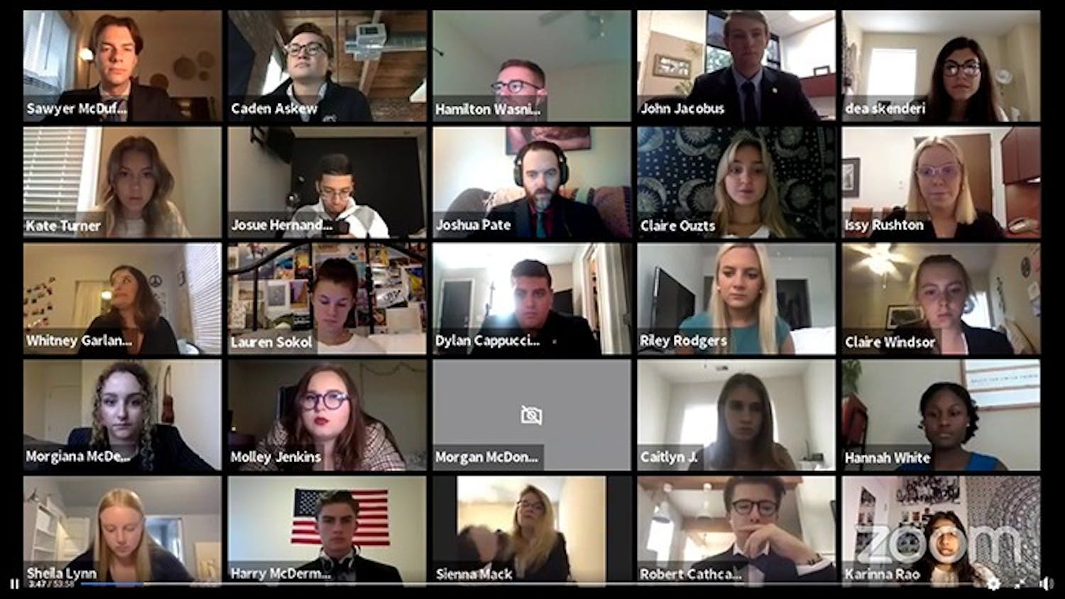 Student senate met virtually on Wednesday via Zoom.