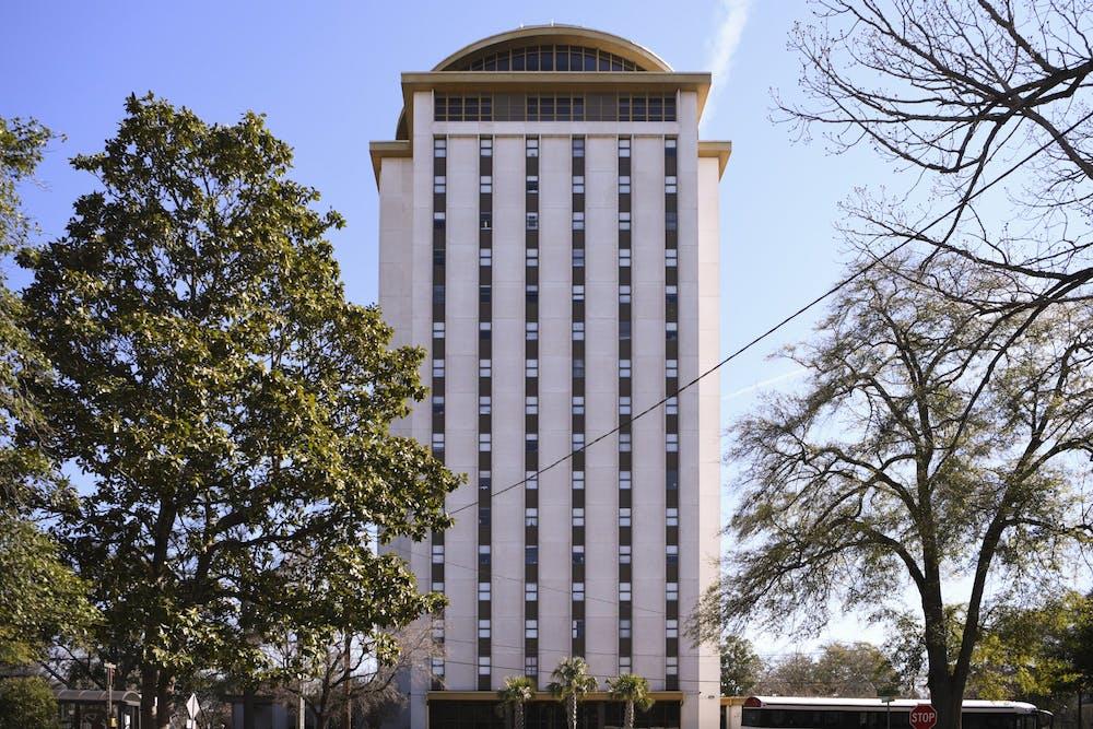 <p>The Capstone dormitory on the University of South Carolina campus.</p>
