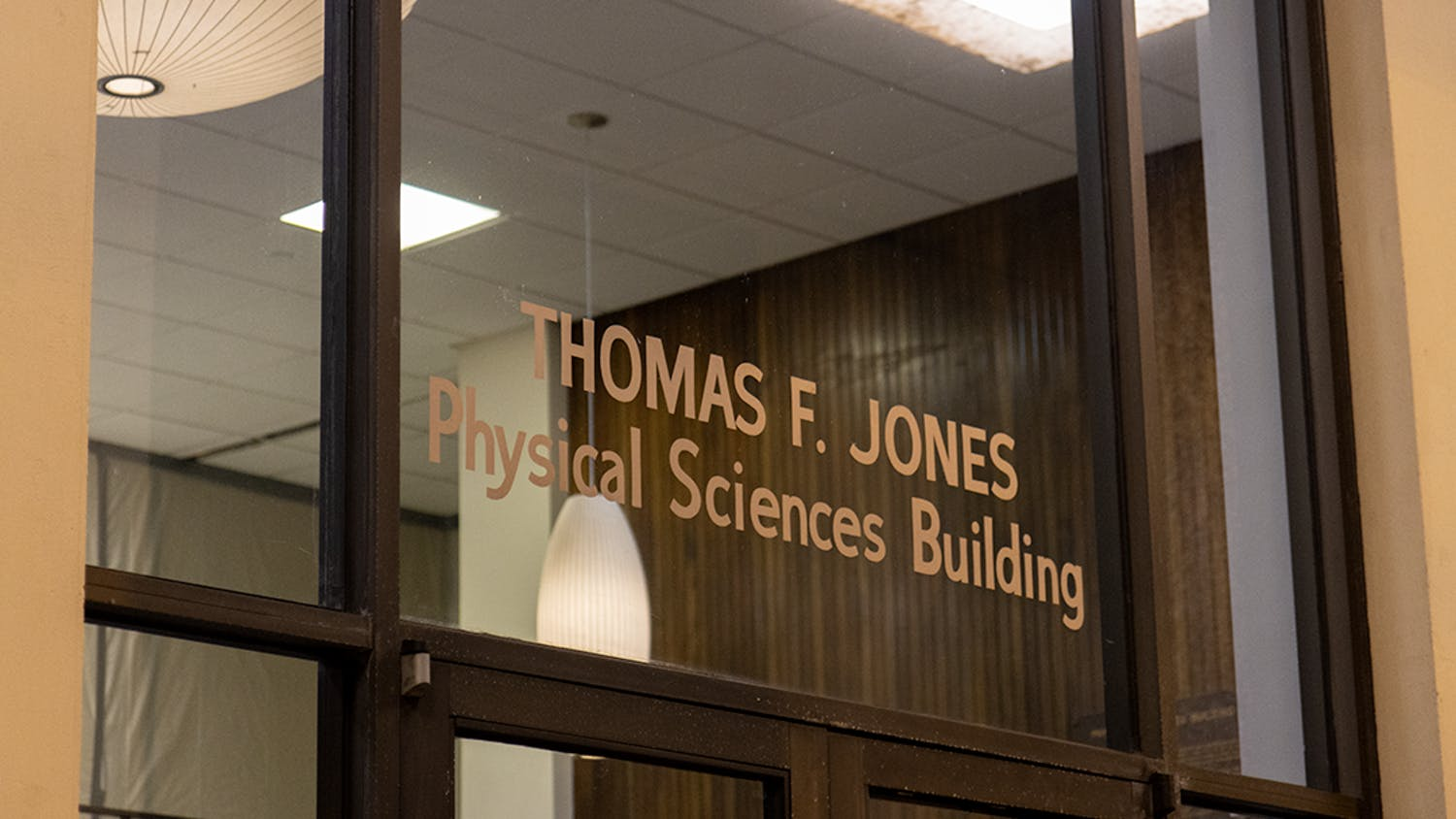Entrance of Jones Physical Science Center located at 745 Main St.