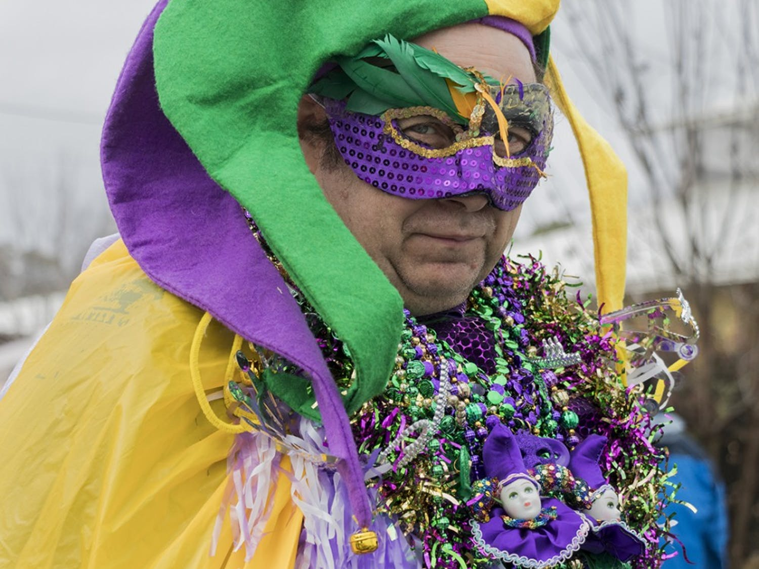 A festivalgoer dresses up for the annual Mardi Gras Columbia in 2018. The festival was hosted and organized by The Krewe de Columbi Ya Ya.