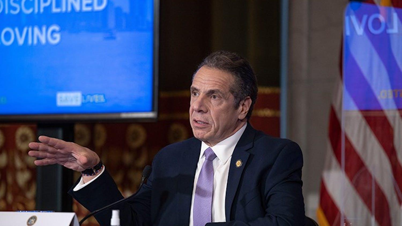 New York Gov. Andrew Cuomo speaks in January 2021.