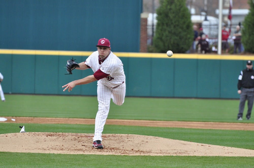 <p>Former South Carolina pitcher Michael Roth made his major league debut for the Angels earlier this month. He said his experience as a college player helped prepare him.</p>