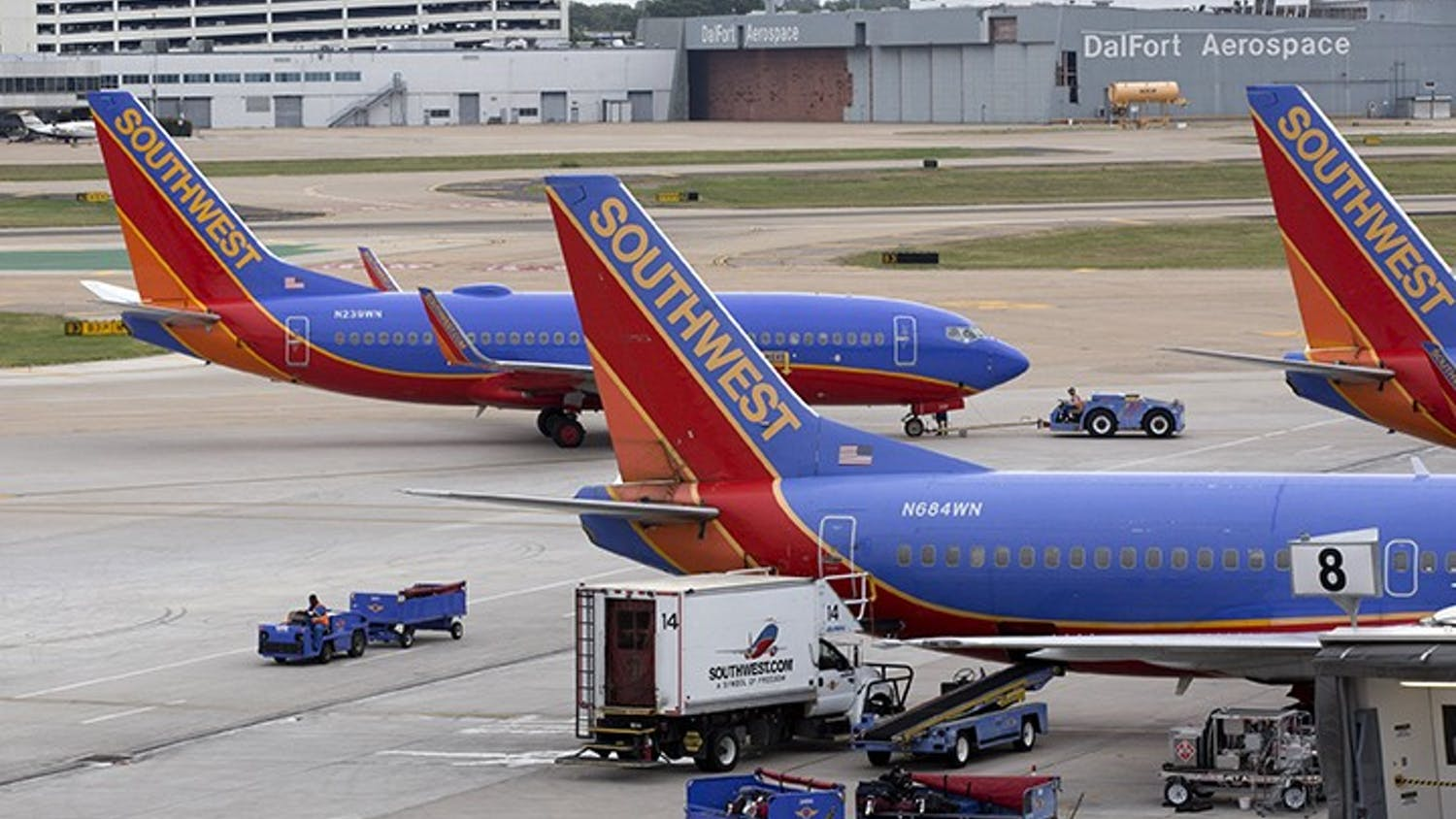 Southwest Airlines is ready to celebrate its first minute of freedom from the Wright Amendment at Dallas Love Field, even though it's a year away. The Dallas-based airline is unveiling a countdown clock today at its headquarters, reminding employees, passengers and North Texans that starting on Oct. 13, 2014, it will be able to fly nonstop anywhere in the U.S. from its Love Field home. (Joyce Marshall/Fort Worth Star-Telegram/MCT)