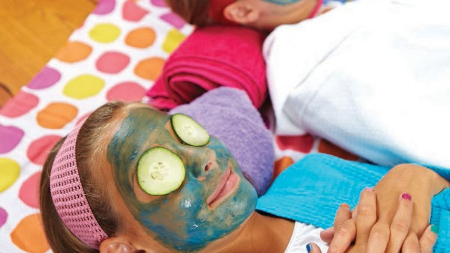 Have guests paint each other's faces with a homemade facial mask - then relax with some cooling cucumber slices resting on guests' eyes. (Ronnie Andren/FamilyFun Magazine/MCT)