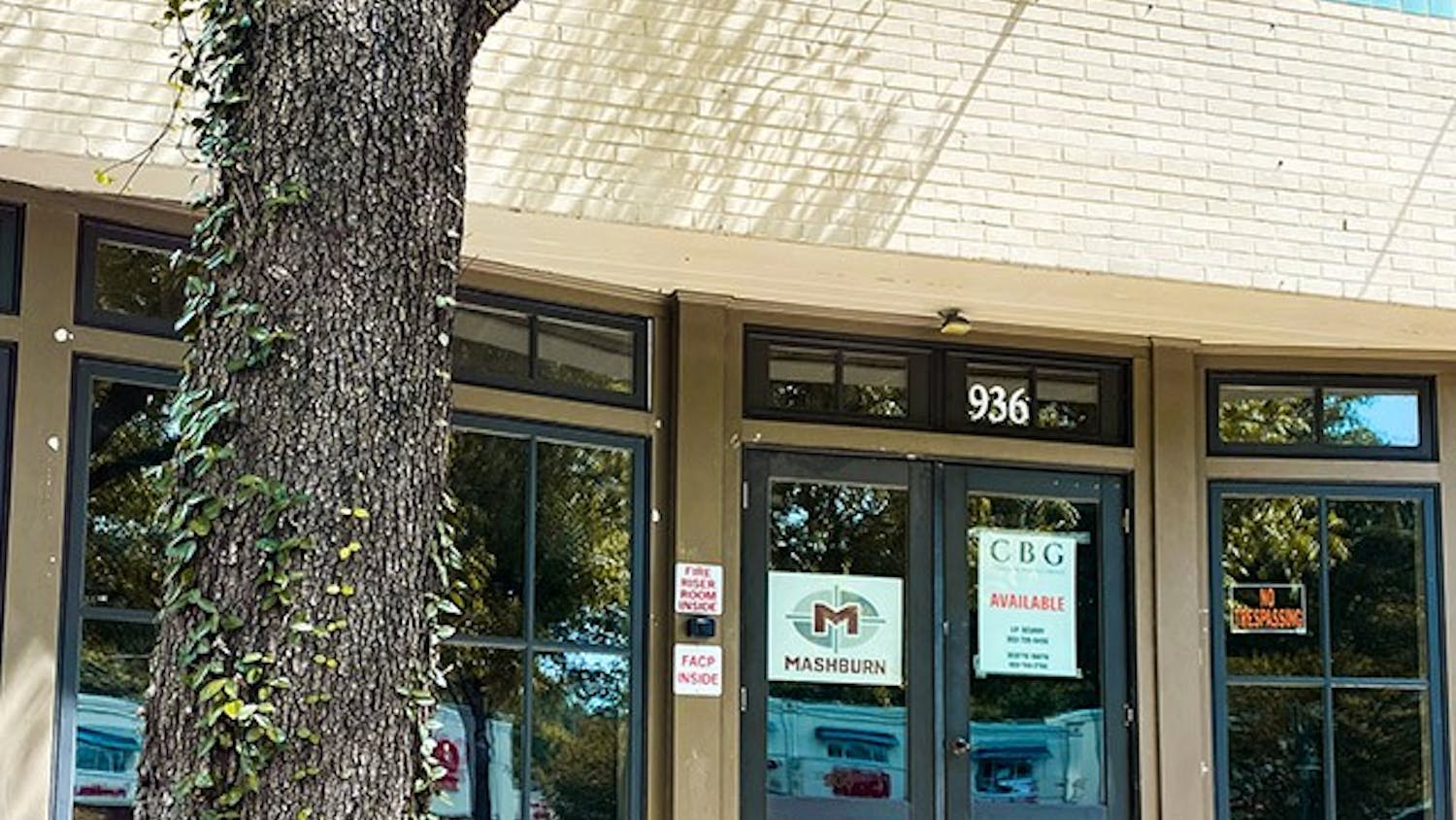 The exterior of the space that will become Flying Biscuit Café at 936 Harden Street. The Five Points restaurant will create an eclectic environment with murals of local landmarks and serve food with a Southern flair.