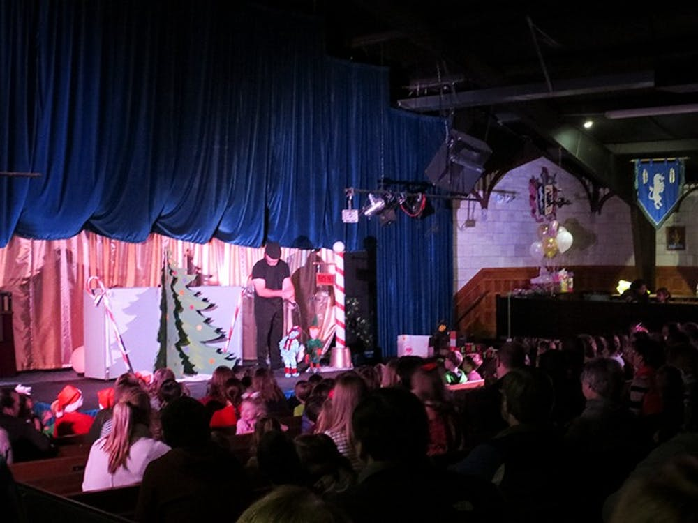 <p>The Columbia Marionette Theatre puts on a Christmas show for a live audience. Columbia Marionette Theatre's biggest customers are schools.</p>