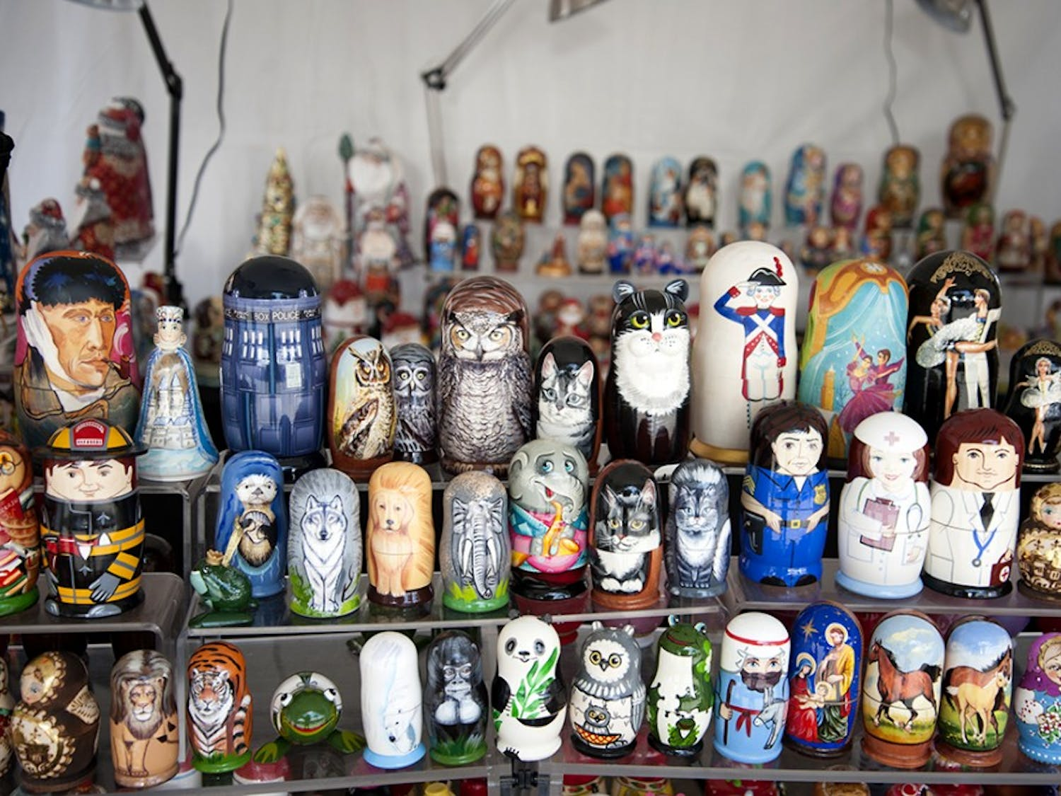 Ceramic souvenirs are displayed at the 30th annual Greek Festival in Columbia in 2016.