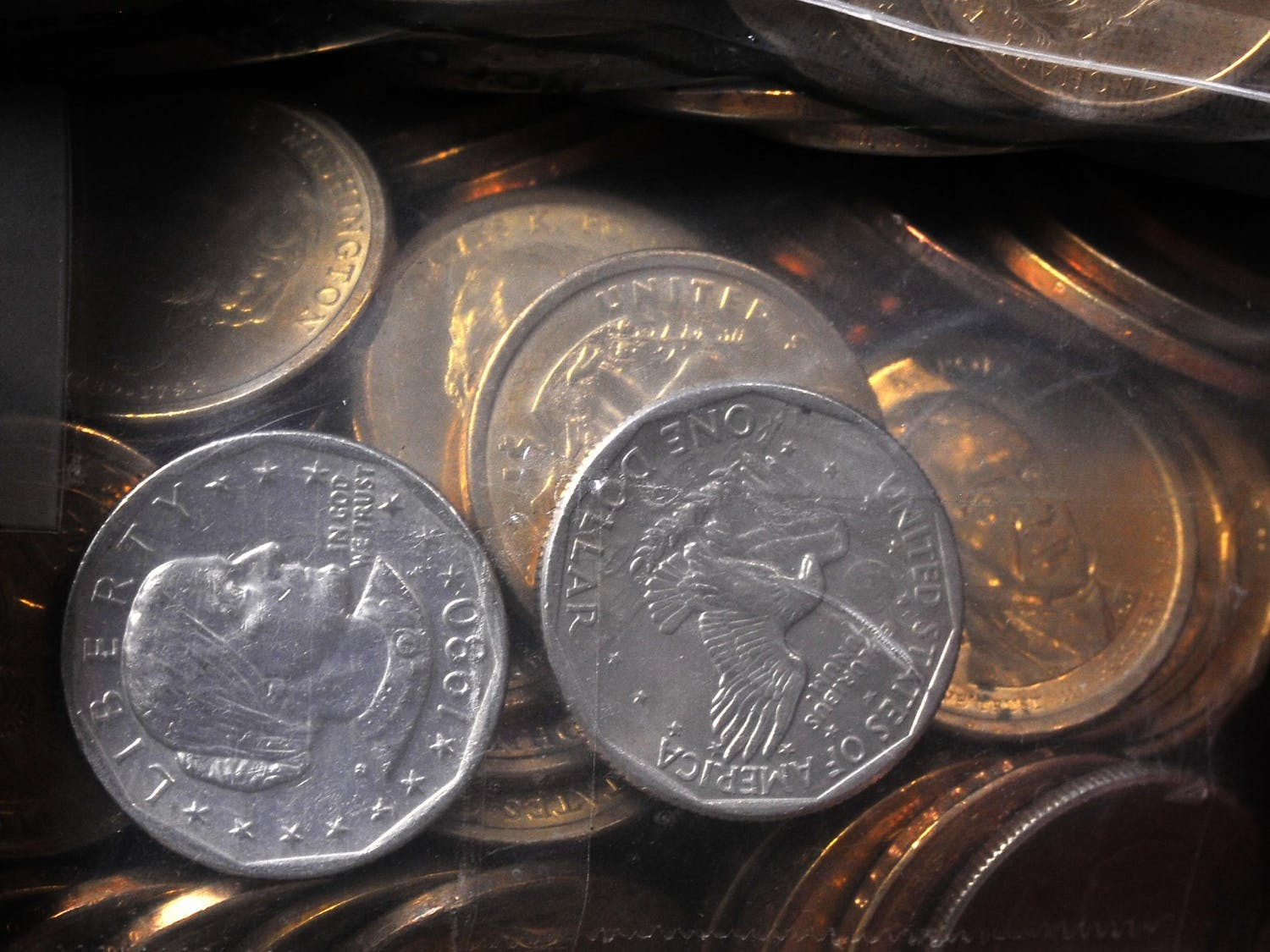 The United States of America's $1 dollar coins.