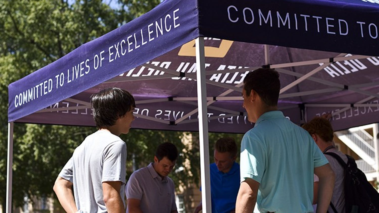 Delta Tau Delta is returning to the University of South Carolina campus following a temporary suspension in September of 2014. Founding members have been seen around campus recruiting and raising awareness of the returning fraternity.