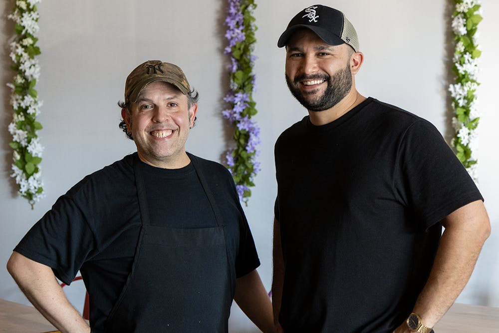 <p>David Grillo (left) and Adam Cabot (right), owners of Boca Grande Burritos in Forest Acres. The restaurant's menu is built to be flexible, offering vegan, vegetarian and gluten-free options.</p>