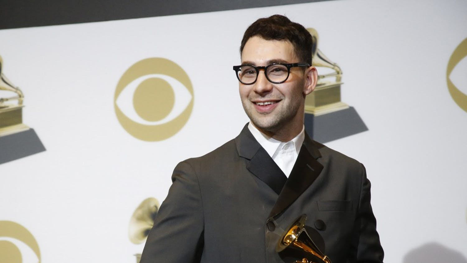 Jack Antonoff backstage during the 61st Grammy Awards at Staples Center in Los Angeles on Sunday, Feb. 10, 2019. (Taylor Arthur/Los Angeles Times/TNS)
