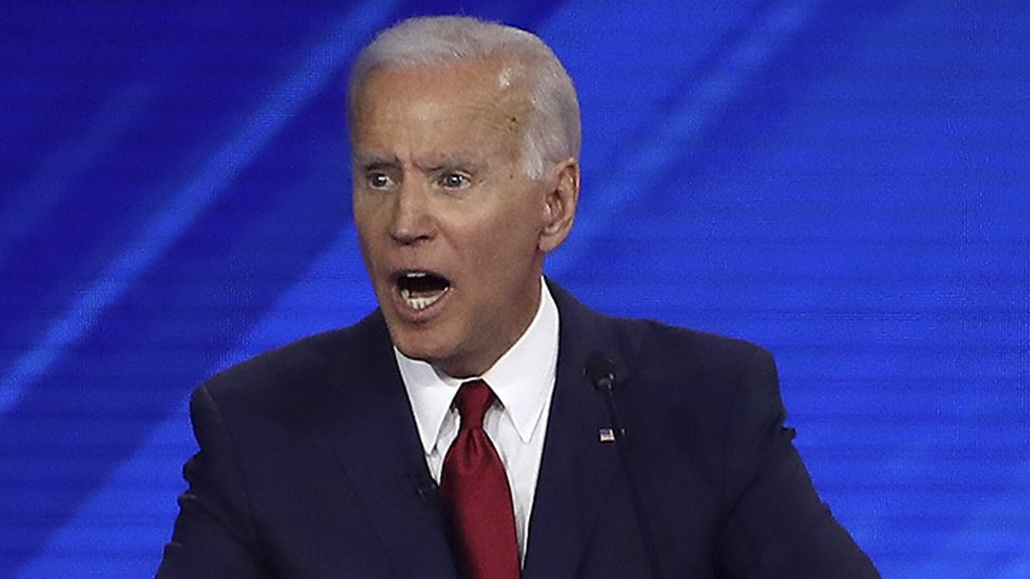 HOUSTON, TEXAS - SEPTEMBER 12: Democratic presidential candidate former Vice President Joe Biden speaks during the Democratic Presidential Debate at Texas Southern University's Health and PE Center on September 12, 2019 in Houston, Texas. Ten Democratic presidential hopefuls were chosen from the larger field of candidates to participate in the debate hosted by ABC News in partnership with Univision. (Win McNamee/Getty Images/TNS)