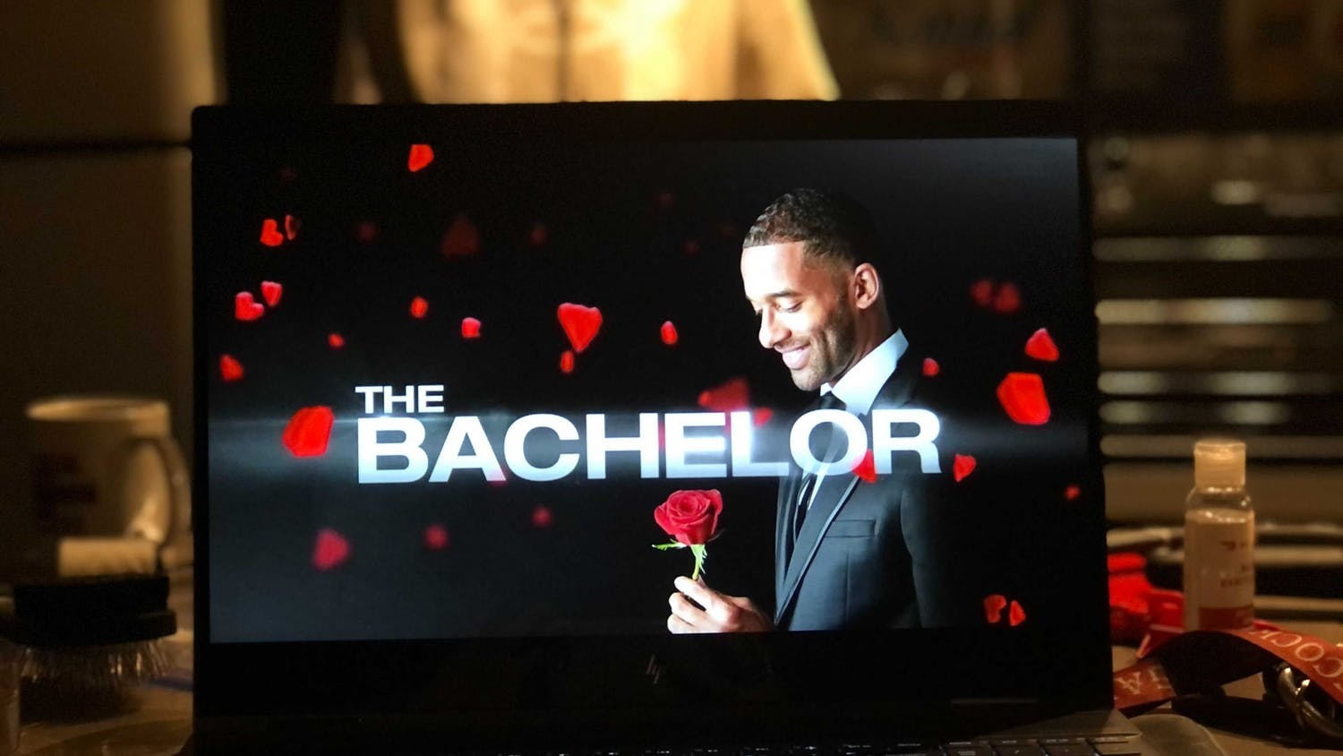 "Most recent bachelor Matt James during ""The Bachelor"" intro."