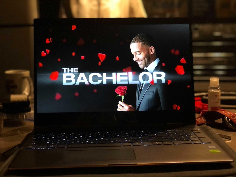"Most recent bachelor Matt James during ""The Bachelor"" intro."