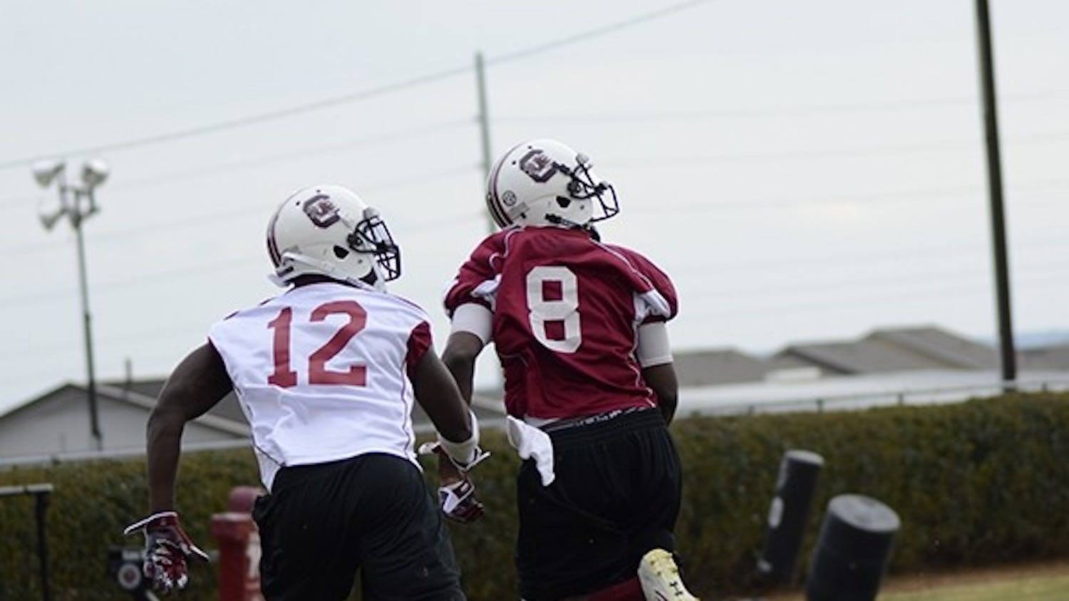 Redshirt sophomore Shamier Jeffery (8) says that he is more focused and positive this season.