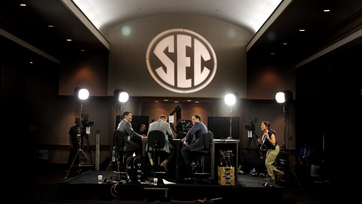 ESPN's presence was strong during SEC football media days in Hoover, Alabama. (Gerry Melendez/The State/MCT)