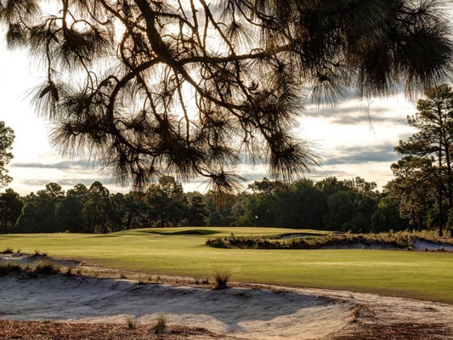 Pinehurst's famous, breath-takinggolf course, Number Two, has been visited by President Obama.