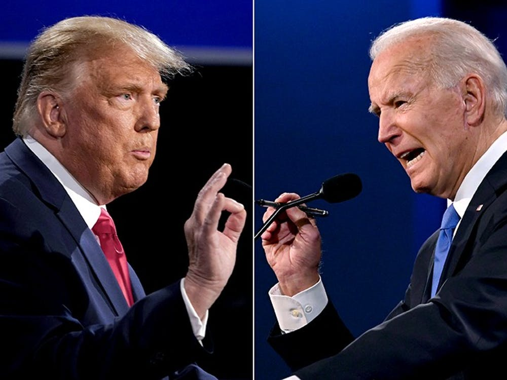 <p>President Donald Trump (left) and President-elect Joe Biden (right) participated in the final presidential debate on Oct. 22, 2020.&nbsp;</p>