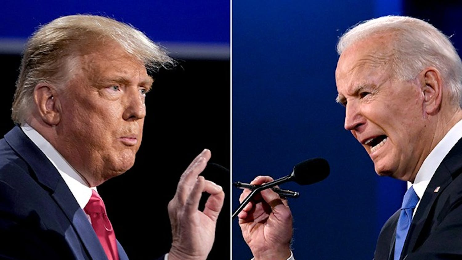 President Donald Trump (left) and President-elect Joe Biden (right) participated in the final presidential debate on Oct. 22, 2020.