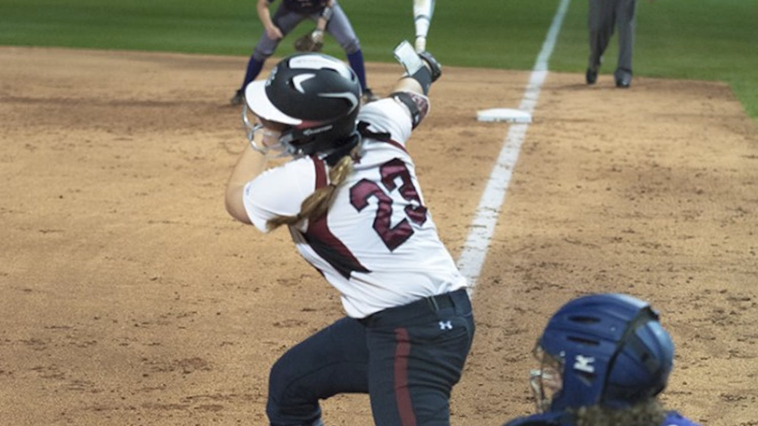 Kennedy Clark recorded two hits in South Carolina's loss to Georgia Southern.