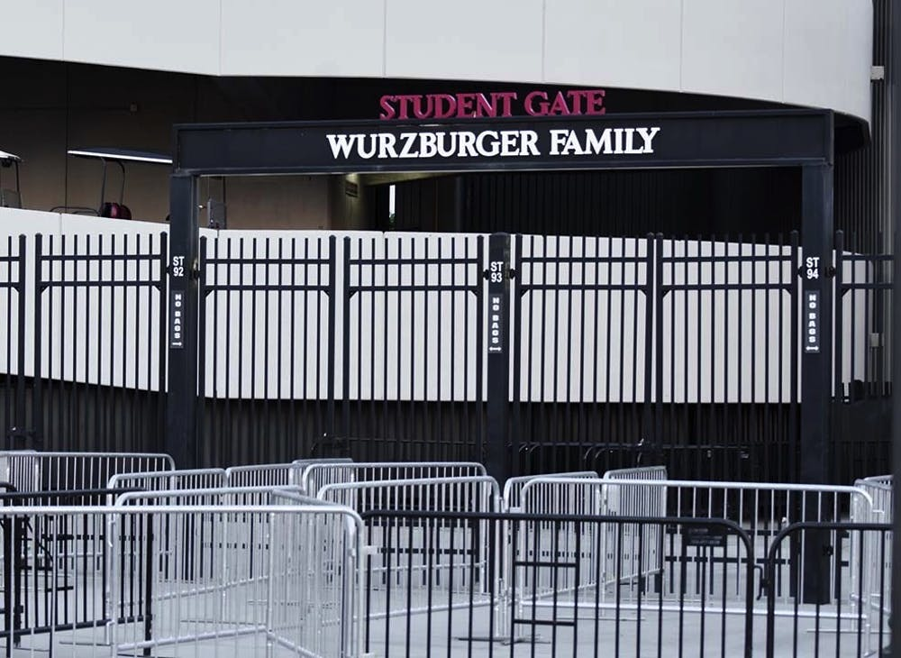 <p>The student gate entrance at Williams-Brice Stadium. The lack of adequate staff, organization and infrastructure at the gate before the game led to the formation of a large crowd, which resulted in students getting injured.</p>