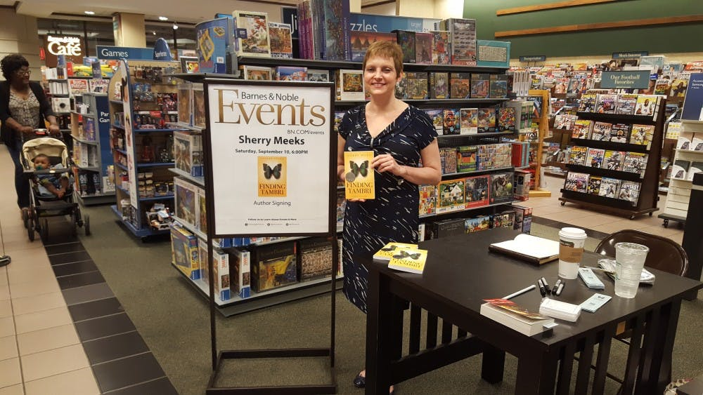 <p>Georgia author Sherry Meeks stopped at the Forest Acres Barnes and Noble as a part of her 100 Barnes and Nobles in 100 days tour.</p>