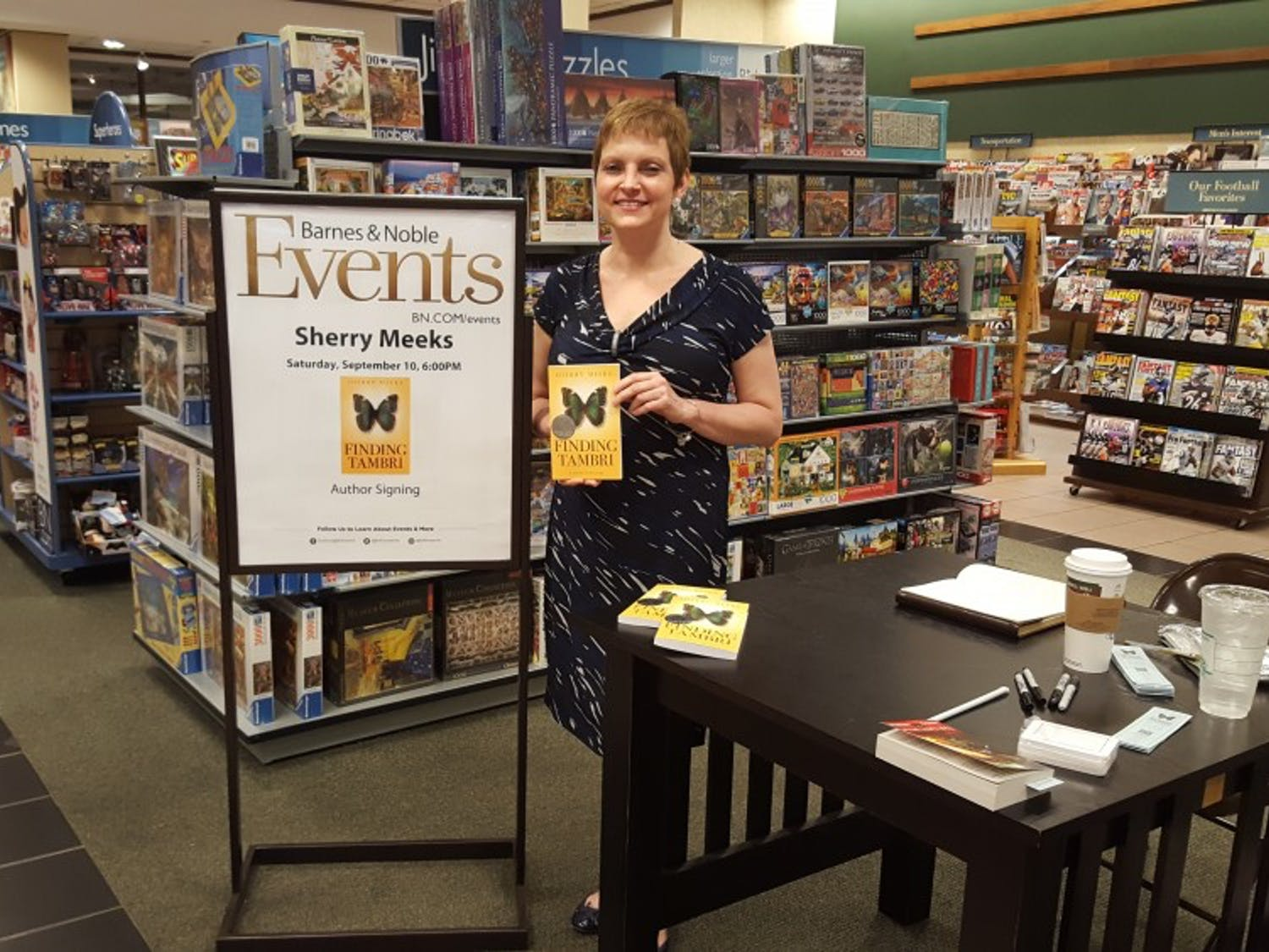 Georgia author Sherry Meeks stopped at the Forest Acres Barnes and Noble as a part of her 100 Barnes and Nobles in 100 days tour.