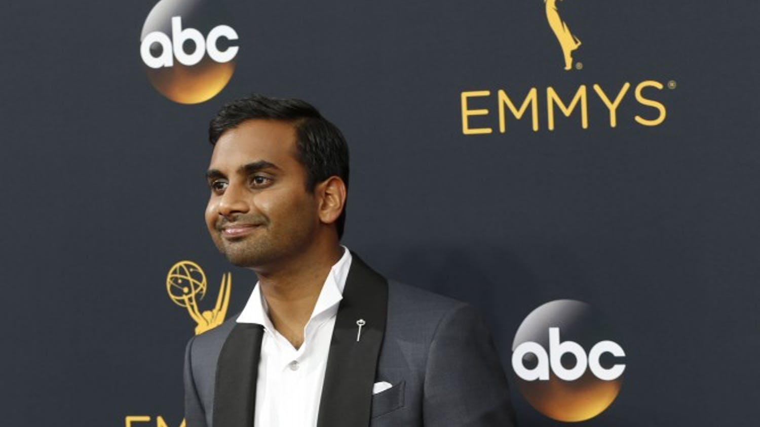 Aziz Ansari arrives at the 68th Primetime Emmy Awards at the Microsoft Theater in Los Angeles on Sunday, Sept. 18, 2016. (Kirk McKoy/Los Angeles Times/TNS)
