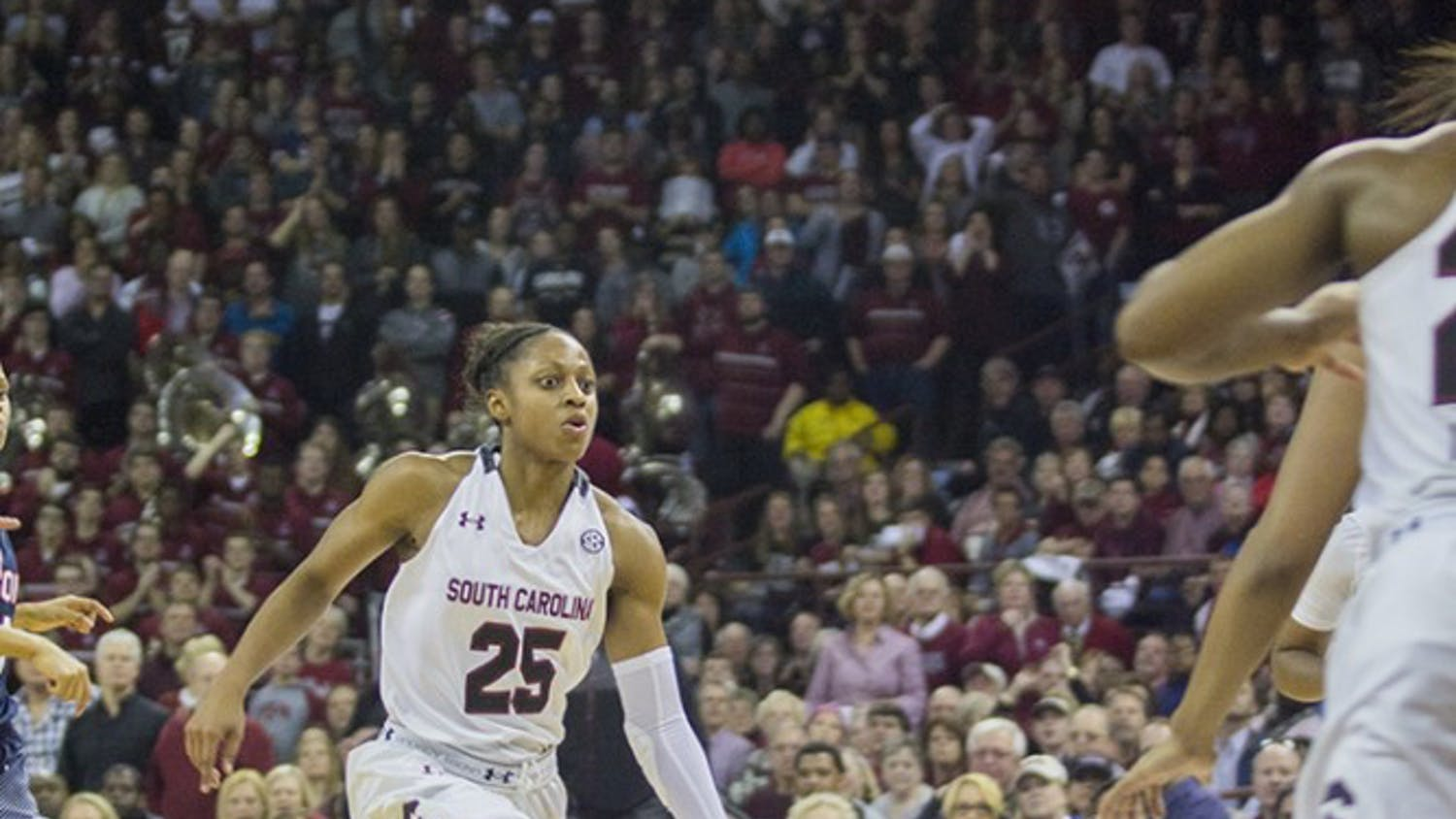 Former South Carolina guard Tiffany Mitchell was the ninth selection in this year's WNBA Draft.