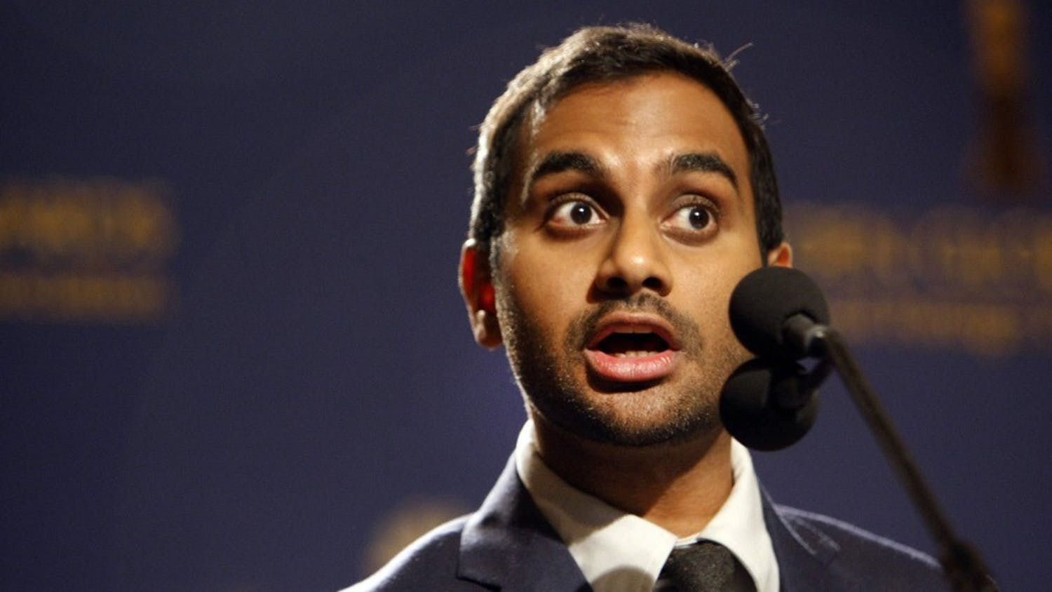 Aziz Ansari announces nominations for the Golden Globe Awards on Dec. 12, 2013, in Los Angeles. (Al Seib/Los Angeles Times/MCT)