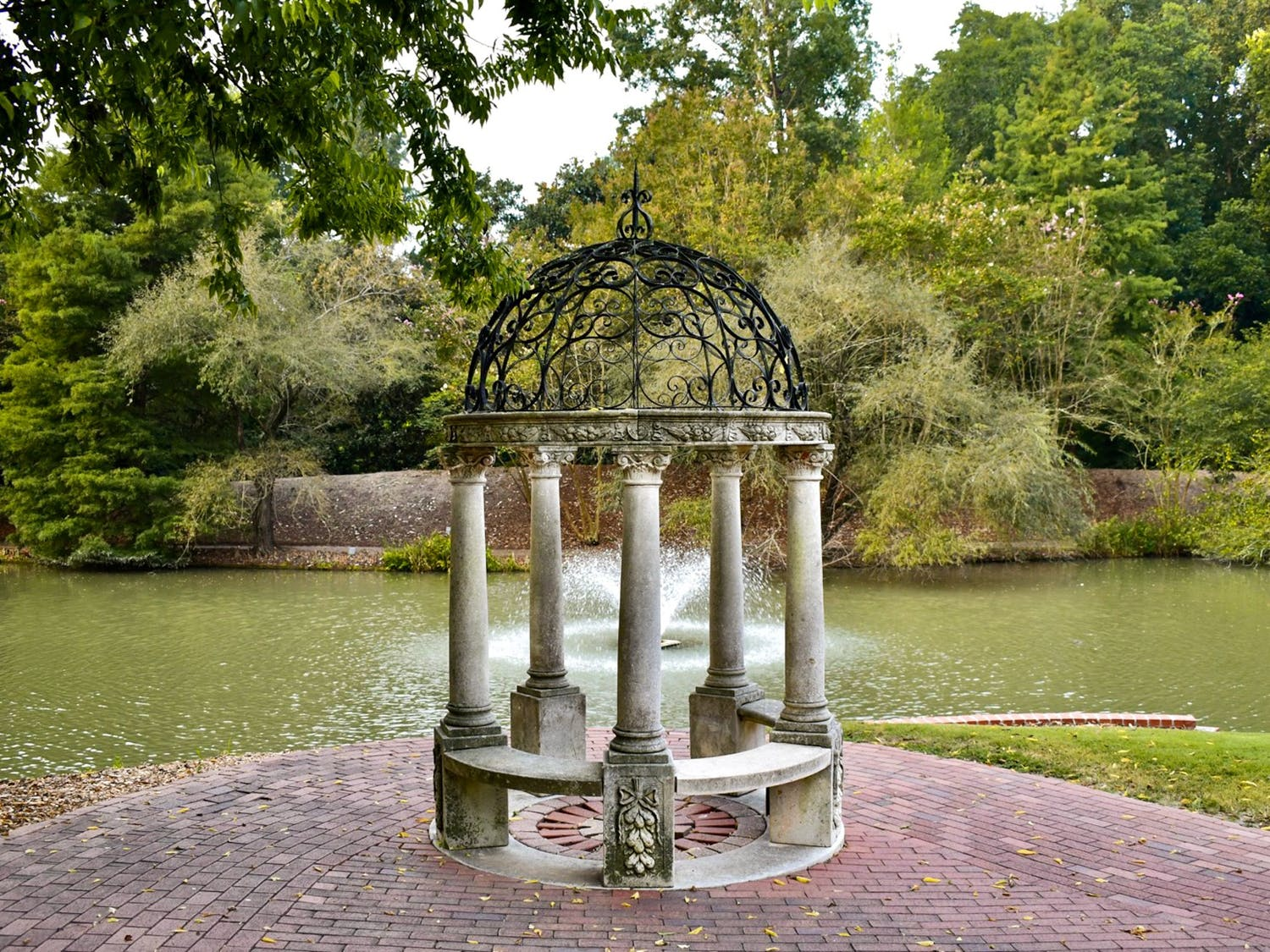 """One of the many fountains at Hopelands Gardens. Hopelands Gardens is a sprawling landmark in Aiken with wildlife, ponds, gazebos, a performing arts stage and a """"turtle island"""" that aims to preserve the natural landscape."""