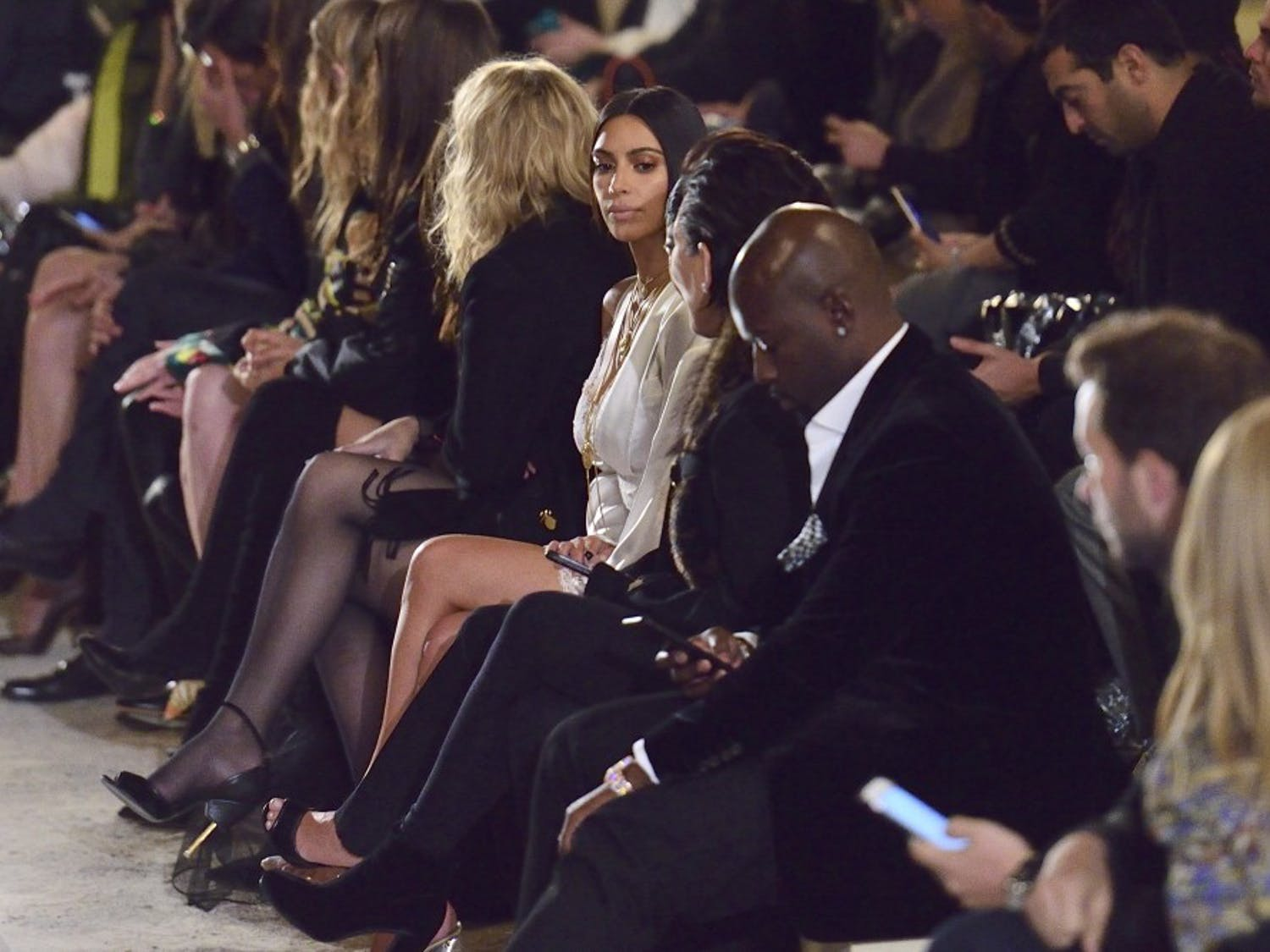 Kim Kardashian West attends the Givenchy show on Sunday, Oct. 2, 2016 as a part of Paris Fashion Week Ready to Wear Spring/Summer 2017 in Paris, France. (Aurore Marechal/Abaca Press/TNS)