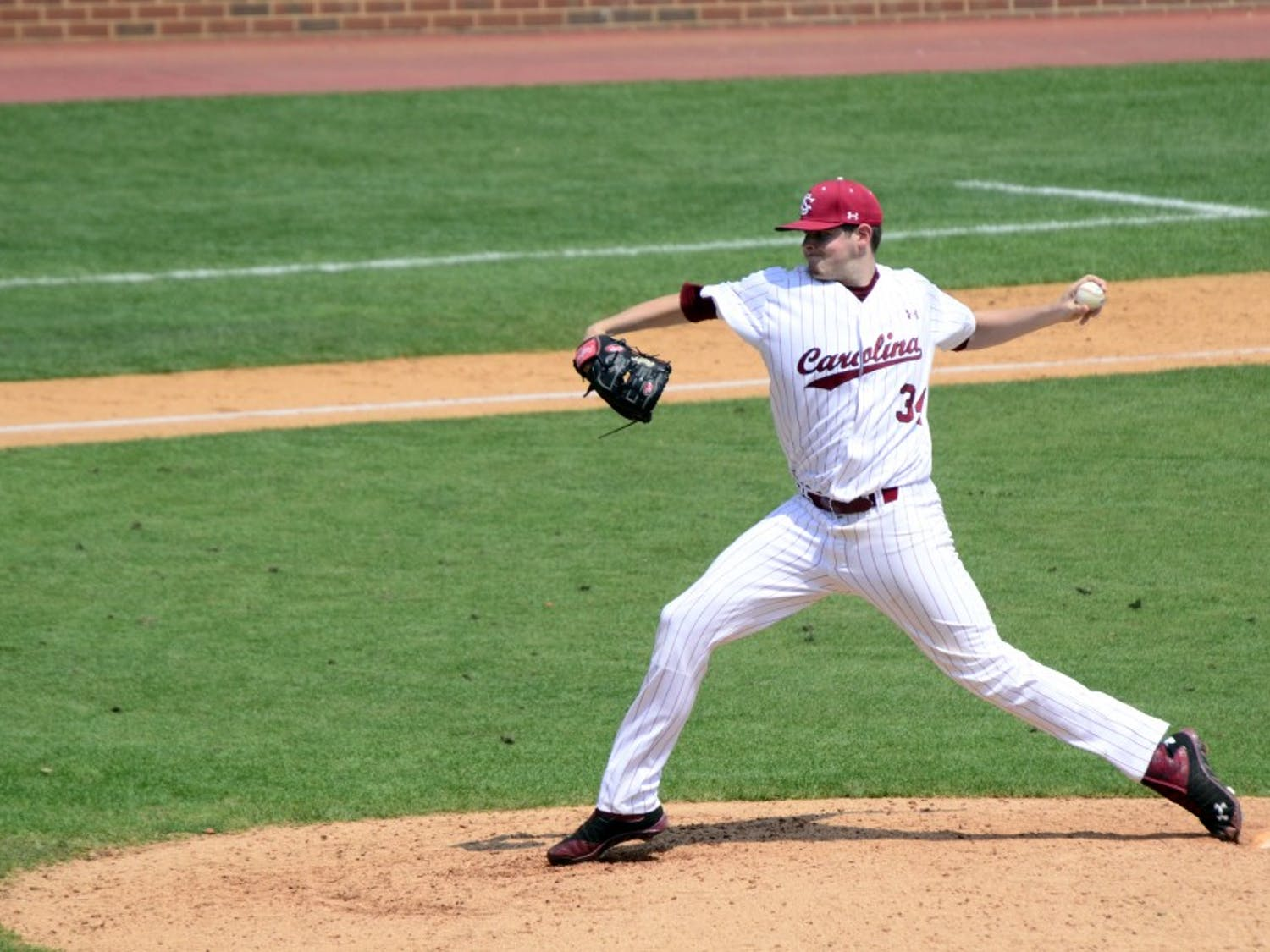 Pitcher Jason Montgomery led the Gamecocks to a victory in their second game against UNC.