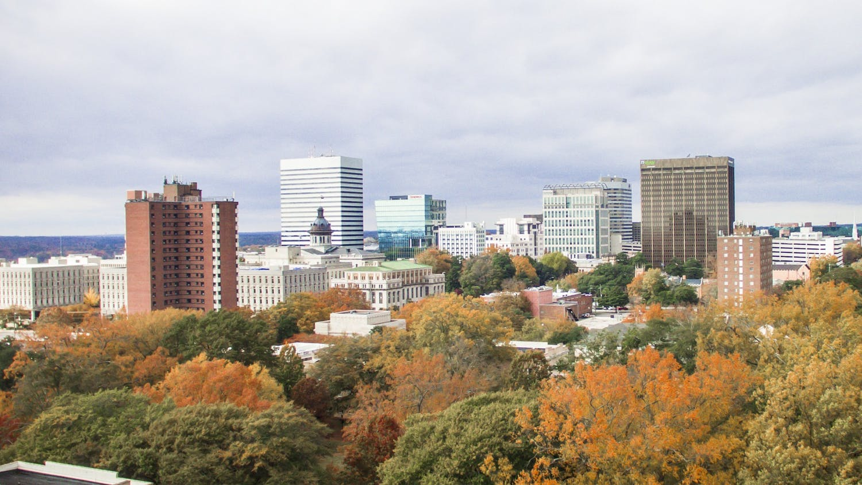 Columbia skyline.