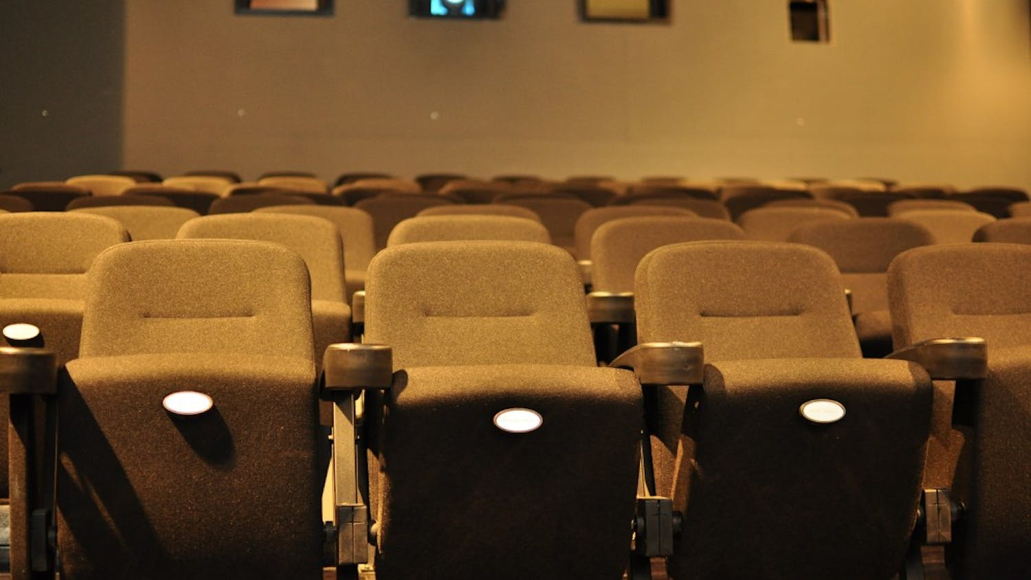 Row of seats at Columbia's own Nickelodeon Theatre