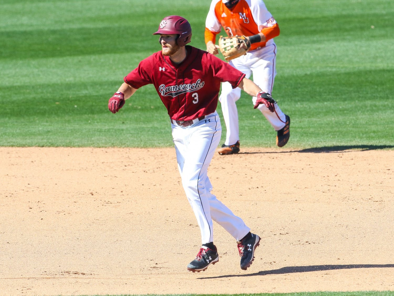 Sophomore second baseman Braylen Wimmer during the game against Mercer. South Carolina won 1-0 in the series' third game on Sunday, March 7, 2021.