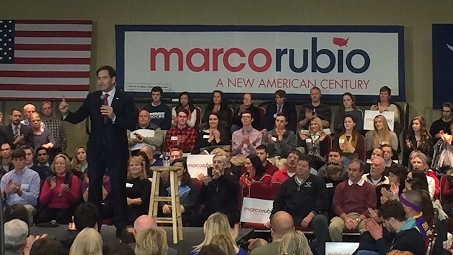 Marco Rubio spoke at a town hall in Columbia yesterday afternoon in preparation for the SouthCarolina primary.