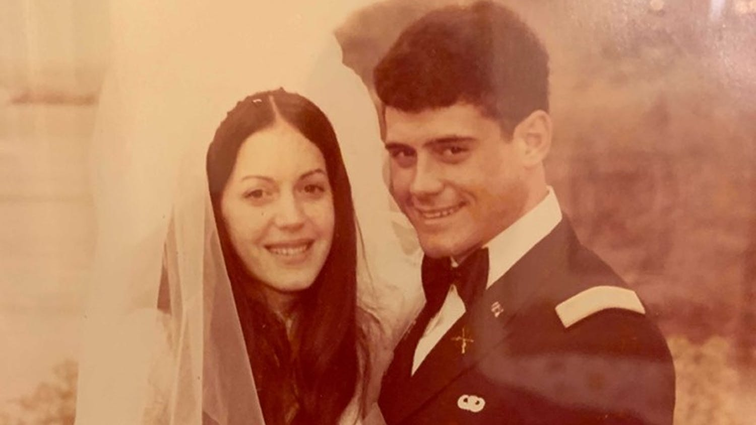 University of South Carolina President Bob Caslen and First Lady Shelly Caslen pose on their wedding day. They married on April 16, 1977.